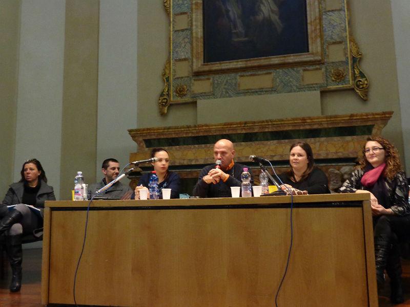 La squadra di Nuova Senigallia, da sinistra : Viviana Brunetti, Enrico Formica, Catia Papa, Marcello Liverani, Silvia Tomassoni, Barbara Bolletta