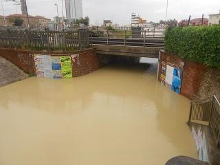 L'alluvione di Senigallia, 3 maggio 2014: il sottopasso di via Dogana Vecchia