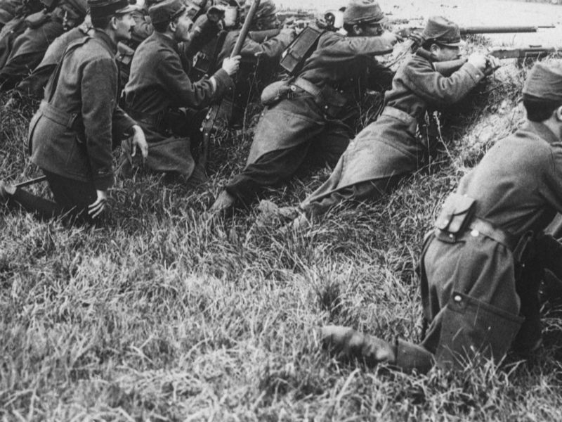 Uno scatto della Prima Guerra mondiale