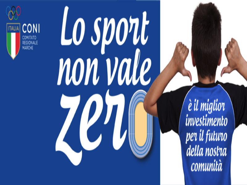 """""""Lo sport non vale zero"""": campagna Coni"""