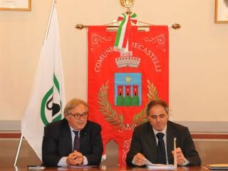 Gian Mario Spacca e Faustino Conigli: giunta regionale a Trecastelli
