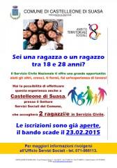 Locandina servizio civile a Castelleone di Suasa