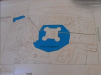 Area della Rocca non trasferibile al Comune (in blu)