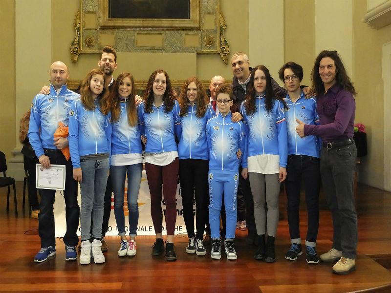 Premiazione del Team Roller Senigallia
