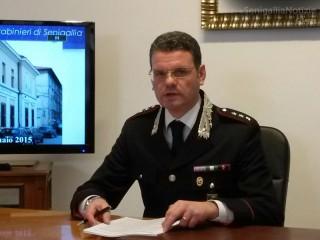 Il capitano della compagnia dei Carabinieri di Senigallia Cleto Bucci