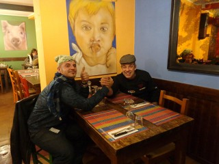 Michele Droghini, alias Geos, con Alessandro Capomagi all'Osteria del Tempo Perso