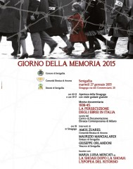 Locandina delle iniziative per il 27 gennaio, Giorno della Memoria