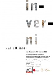 """locandina della mostra """"inverni"""" di Catia Uliassi"""