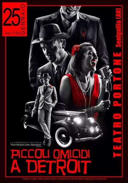 """locandina della commedia """"Piccoli omicidi a Detroit"""""""