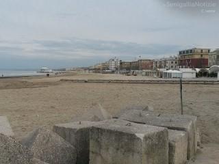 La spiaggia di Senigallia del lungomare Marconi