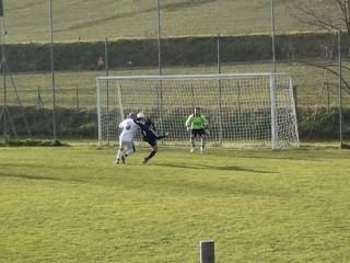 Ostra Calcio-Victoria Brugnetto-gol Pasqualini