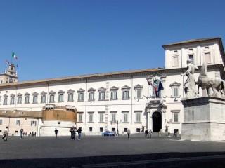 Il palazzo del Quirinale, sede della Presidenza della Repubblica