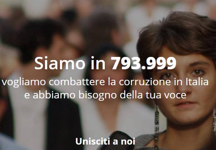 """campagna anticorruzione """"Riparte il futuro"""" promossa da Libera e Gruppo Abele"""