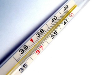 febbre, influenza, termometro, malattia