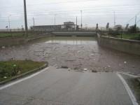 ponte allagato Montemarciano