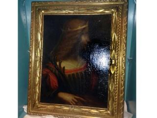 """Il dipinto olio su tela attribuito dal Prof. Carlo Pedretti a Leonardo Da Vinci, raffigurante """"Isabella D'Este"""" sequestrato dalla Gdf di Pesaro in Svizzera"""