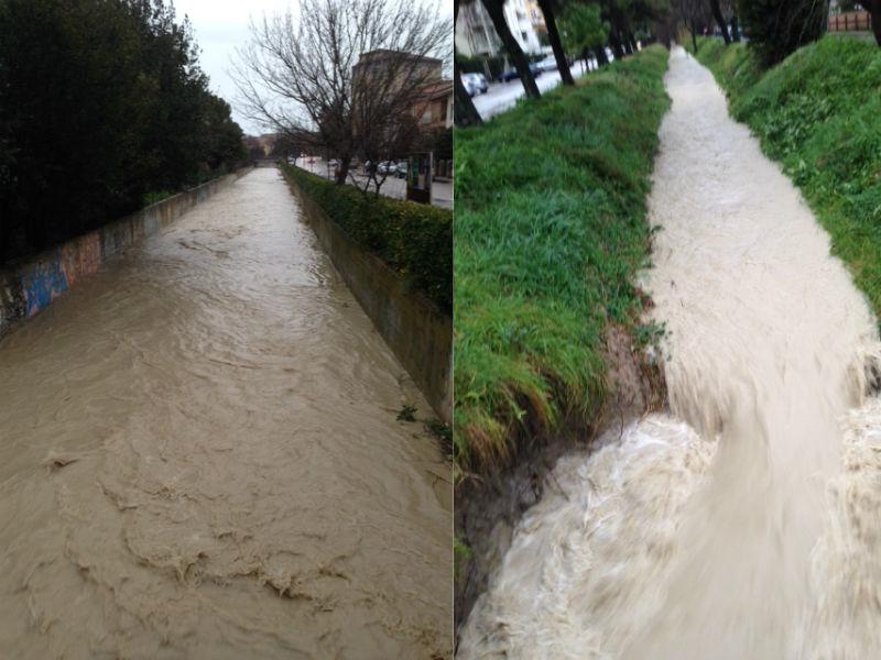 Fosso Sant'Angelo sotto controllo dopo le piogge del 5 marzo 2015