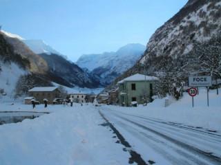 Foce di Montemonaco sotto la neve