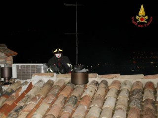 Incendio a canna fumaria a Castelfidardo