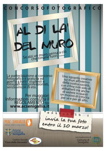 """locandina del concorso fotografico """"Al di là del muro"""" proposto dal Movimento studenti di Azione Cattolica"""