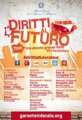 """locandina """"Diritti al futuro"""" tour"""