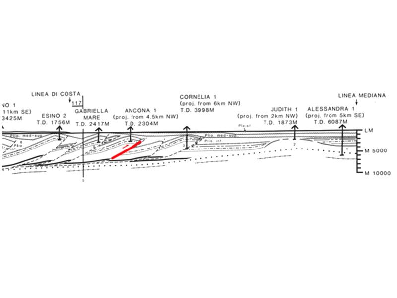 """La sequenza sismica dell'area marina a largo di Senigallia dove si trova il pozzo """"Cornelia"""""""