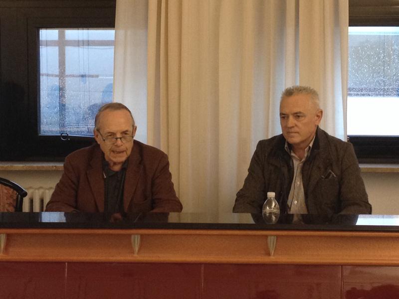 Silvio Pasquini (Giardino degli angeli) e Goffredo Giovanelli (istituto Panzini) presentano la cena di beneficenza per il progetto Planet-Panzini