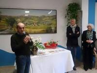 """Ostra Vetere: donazione alla casa per anziani del quadro """"Paese Mio"""" di Brunella Romyo"""