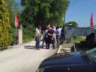 Picchetto antisfratto a Trecastelli: mediazione degli attivisti