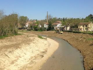 Alluvione, interventi di manutenzione del fiume Nevola a Passo Ripe di Trecastelli