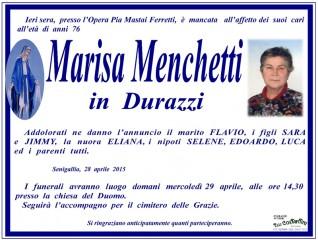 Manifesto funebre per Marisa Menchetti in Durazzi