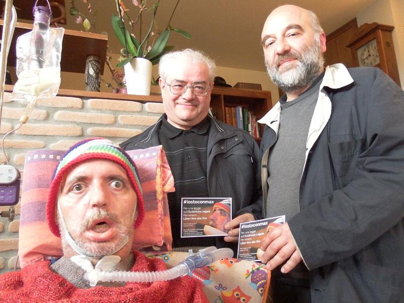 Massimo Fanelli, don Giancarlo Giuliani e don Paolo Gasperini per #iostoconmax