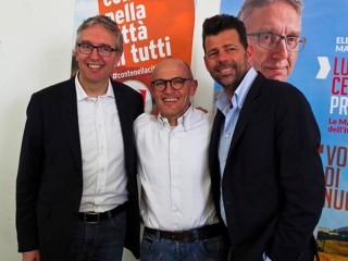 Luca Ceriscioli, Fabrizio Volpini e Maurizio Mangialardi