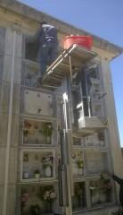Lavori al cimitero di Roncitelli di Senigallia