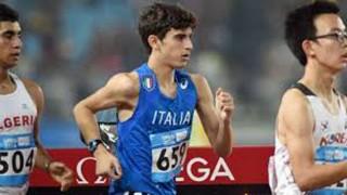 Giacomo Brandi, Atletica Senigallia, in una gara per la Nazionale Italiana