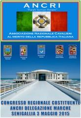 locandina del Congresso Regionale Costituente della Delegazione Marche dell'Ancri, l'Associazione Nazionale Cavalieri al Merito della Repubblica Italiana
