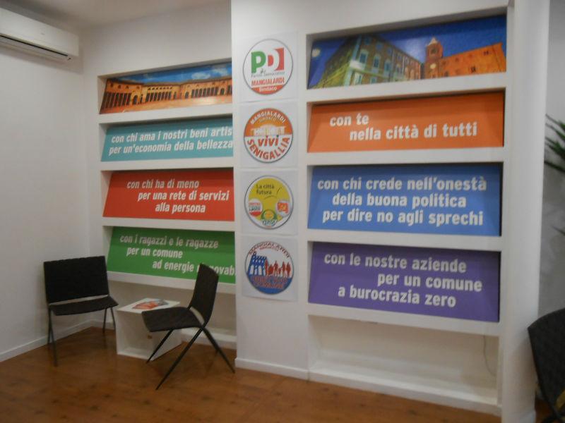 Sede comitato per Mangialardi sindaco
