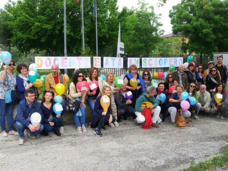 Sciopero a Senigallia per la riforma scolastica