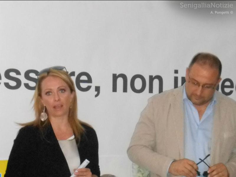 Giorgia Meloni e Roberto Paradisi