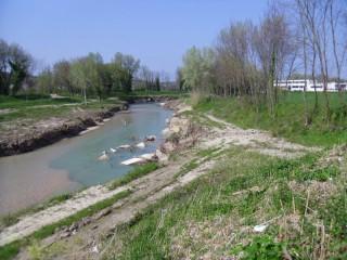 Il fiume Misa dopo le pulizie di inizio 2015