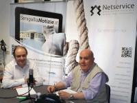Giorgio Sartini e Franco Giannini durante l'intervista per Senigallia Notizie
