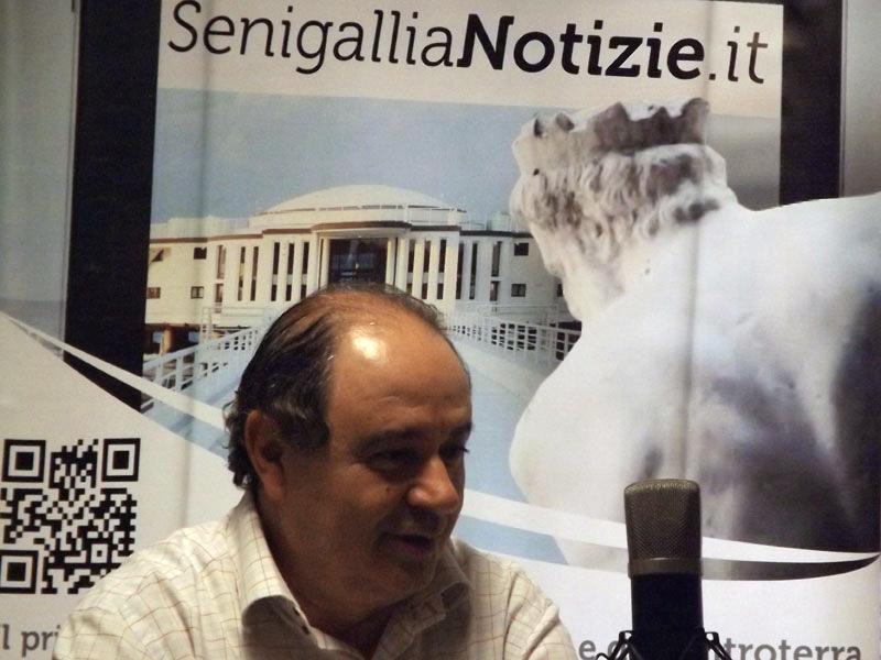 Giorgio Sartini durante l'intervista con Franco Giannini