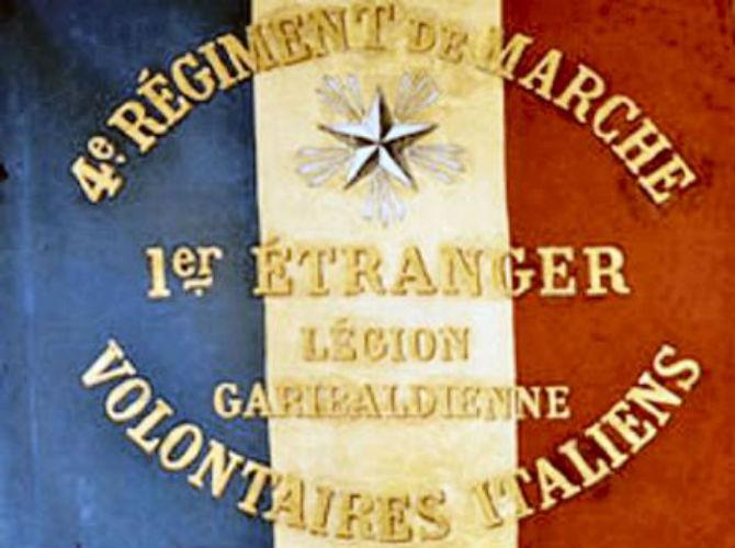 La bandiera della legione garibaldina