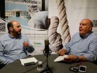 Paolo Battisti e Franco Giannini nella redazione di Senigallia Notizie