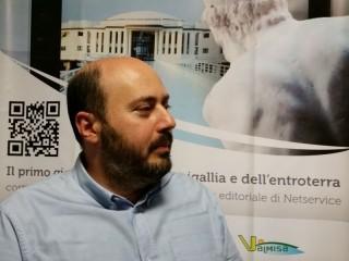Paolo Battisti nella redazione di Senigallia Notizie