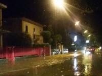 via Capanna allagata dalle acque del fosso Sant'Angelo