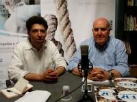 Mohamed Malih e Franco Giannini nella redazione di Senigallia Notizie