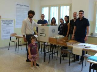Elezioni 2015: il sindaco di Corinaldo Matteo Principi alle urne