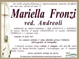 necrologio Mariella Fronzi
