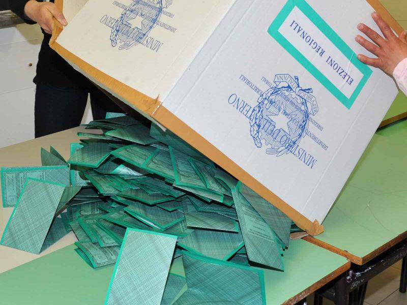Elezioni regionali - Scrutinio delle schede